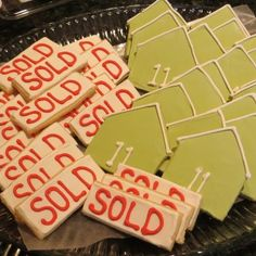 Custom cookies for our sellers broker open tour. They taste as good as they look!!!!