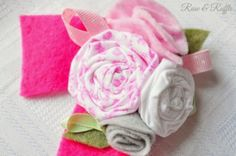 Rose & Ruffle: A Fabric Roses Birthday Brooch Pin for Isabelle