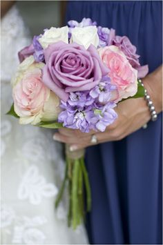 Pink & Purple Romantic Rustic Wedding from Sunny Studios pink and purple rose bridesmaids bouquet, pink and purple romantic rustic wedding, Sunny Studios STEP-BY-STEP INSTRUCTIO. Rose Bridesmaid Bouquet, Lilac Bouquet, Lavender Bridesmaid, Purple Wedding Bouquets, Lilac Wedding, Floral Wedding, Rustic Wedding, Dream Wedding, Wedding Ideas