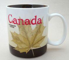Starbucks 2012 Canada City Mug Maple Leaf NEW