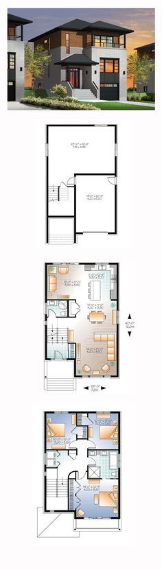 Modern House Plan 76362   Total Living Area: 1883 sq. ft., 3 bedrooms and 2 bathrooms. #modernhome
