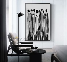 Black And White People, Black And White Wall Art, Black And White Abstract, Black White, Living Room Pictures, Wall Art Pictures, Canvas Wall Art, Painting Canvas, Canvas Prints