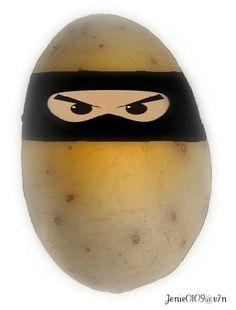A potato ninja.Don't even think it or your head will explode. Tiny Potato, Mr Potato Head, Potato Heads, Potato Picture, Things To Think About, Ninja, Dojo, Lizards, Content