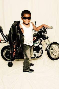 Check out this little rebel rider! Taken at PictureMe!