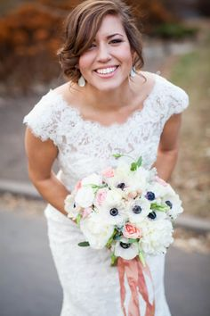 Lace Dress | Bridal Bouquet by Sarah Taylor | Maison Meredith Photography | www.maisonmeredith.com