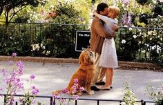 Tom Hanks and Meg Ryan   This movie, and this scene in particular, is a favorite  {You Got Mail}