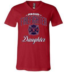 Proud Firefighter Daughter Unisex V-Neck T-Shirt