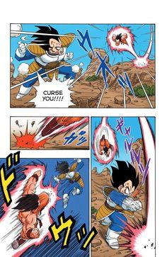 Read Dragon Ball Full Color - Saiyan Arc Chapter 36 Page 12 Online For Free Manga Art, Anime Manga, Dragon Ball Z, Goku Manga, Comic Book Template, Arte Nerd, Comic Layout, Ball Drawing, Goku Vs