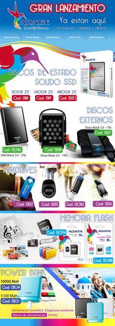 ADATA Argentina #DiscosSSD #Solido #Pendrive #MemoriaSD #PowerBank #Baterias  www.gvinformatica.com.ar #Olivos_VL #FloridaEsteVL #VecinosVL