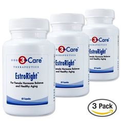 3Care EstroRight Menopause Support  Hormone Balance High Potency Supplement 60 Capsules 3Pack *** Click on the image for additional details.