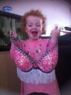 Wild West bra - SunWalk 2011, modelled by my daughter.