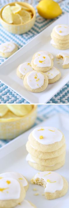 Lemon Meltaway Cookies: Buttery, tangy, springy, lemony, sweet cookies that you won't be able to stop eating!