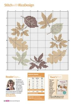 This post was discovered by Na Fall Cross Stitch, Cross Stitch Tree, Cross Stitch Flowers, Cross Stitch Charts, Cross Stitch Designs, Cross Stitch Patterns, Cross Stitching, Cross Stitch Embroidery, Embroidery Patterns