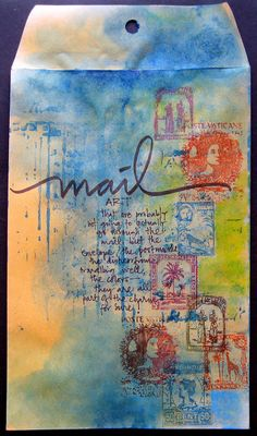 My Life in Collage: Search results for mail art Art Journal Pages, Art Journals, Junk Journal, Mixed Media Collage, Collage Art, Art Altéré, Mail Art Envelopes, Mailing Envelopes, Paper Art
