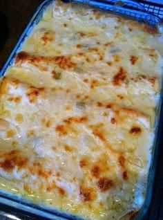 Best recipes in world: White Chicken Enchiladas