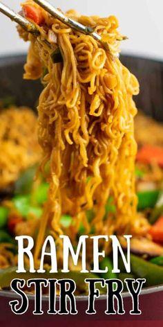 Ramen Noodle Flavors, Ramen Recipes, Stir Fry Recipes, Ramen Noodles, Asian Recipes, Cooking Recipes, Asian Foods, Dinner Recipes, Chinese Recipes