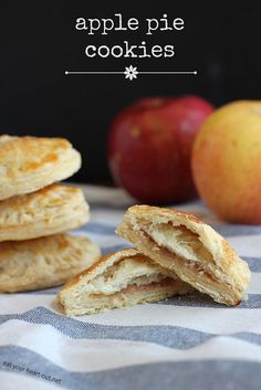Bite-size pockets of flaky pie crust filled with an apple-cinnamon filling