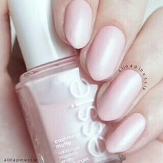 """Essie """"Just Stiched""""  I wasn't able to capture the beautiful blue-ish shimmer though. ✨ and because of the cashmere matte formula I found it a little hard to apply."""
