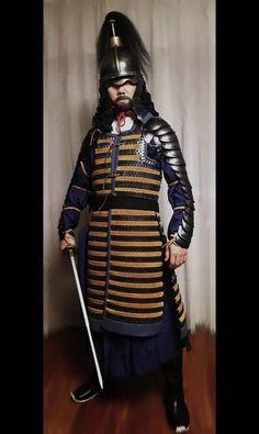 Lamellar Armor, Chinese Armor, Larp Costumes, Golden Horde, Armours, Arm Armor, Modern Warfare, Samurai, Badass
