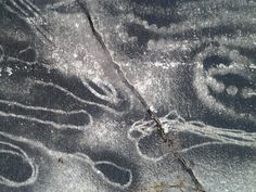 I was walking in a park and found this really neat pattern on the cement, probably a result of spray paint.