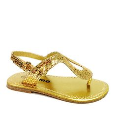 Love this Gold Snakeskin Sandal by Josmo on #zulily! #zulilyfinds
