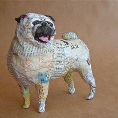 Paper Mache Projects, Paper Mache Crafts, Paper Mache Clay, Paper Mache Sculpture, Dog Sculpture, Animal Sculptures, Sculpture Ideas, Wire Sculptures, Huge Dogs