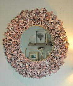 Barnacle Shell Mirror by MyGreenGazebo on Etsy, $750.00