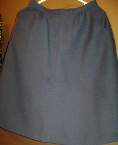 SALE Size 12 Levi Strauss navy skirt.  by SkyAccessoryBoutique, $6.75