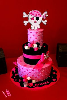 girly pirate cake