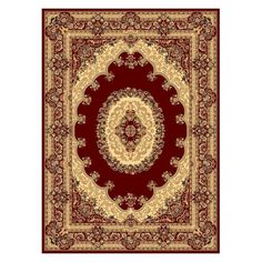 Rugs America New Vision 807 Indoor Area Rug Red/Berber - 21359