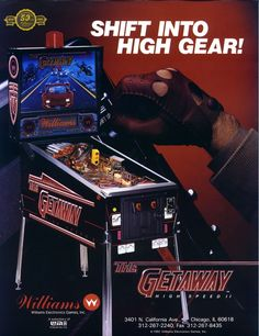The Getaway Pinball - I'm so glad there's a pin of this! Became my new favorite pinball machine tonight and I wanted to save the name somewhere I'll remember... for future reference. :)