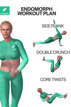 The body type endomorph stores more fat, gets tired easily and has a large appetite that makes it difficult to lose weight. Give it a try to these three exercises to tone your body and get rid of fat. The body type endomorph stores mo. 30 Day Fitness, Fitness Motivation, Hilt Workout, Fun Workouts, At Home Workouts, Lose Lower Belly Fat, 30 Day Workout Challenge, Flexibility Workout, Sport