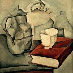 Juan Gris / The Book / Paint./ 1911 #Juan #Gris #weewado #john #gray #book #pitcher #art #cubism #still