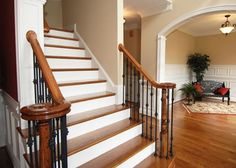 Give your home a much needed face-lift with interior and exterior residential painting services in Glenwood. We provide residential painting services by experienced painters & painting contractors in Glenwood. Design Hall, Foyer Design, Staircase Design, House Design, Staircase Ideas, Foyer Ideas, Decor Ideas, House Paint Interior, Interior Trim