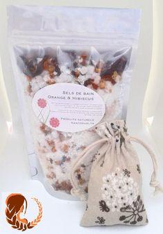 Sels de bain Orange & Hibiscus par NantosueltaNaturel Gift Wrapping, Orange, Gifts, Salts, Handmade Gifts, Gift Wrapping Paper, Presents, Wrapping Gifts, Favors