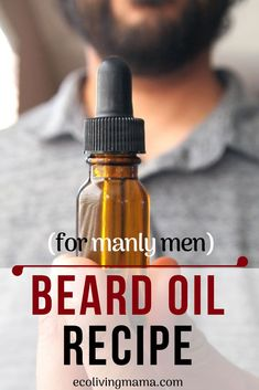 Woodsy Beard Oil Recipe with Essential Oils Learn how to make beard oil for your manly man that promotes beard growth. This woodsy beard oil recipe contains jojoba oil, cedarwood and bergamot essential oils and is SO easy to make! Homemade beard oil makes Homemade Beard Oil, Diy Beard Oil, Best Beard Oil, Best Beard Growth Oil, Beard Growth Cream, Diy Hair Growth Oil, Beard Oil And Balm, Homemade Gifts, Bergamot Essential Oil