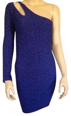 NEW BCBGeneration BCBG BLUE ONE SHOULDER BODYCON STRETCH WOMENS M/L MEDIUM LARGE #BCBGeneration #StretchBodycon #Clubwear