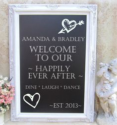 Wedding Chalkboards that I will use for the bar, sign in table, food, etc.