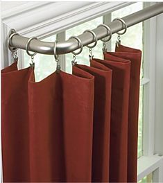 Sliding glass door patio window coverings curtain rods new ideas Sliding Door Curtains, Window Curtain Rods, Drapery Rods, Sliding Glass Door, Drapes Curtains, Office Curtains, Curtain Rails, Burlap Curtains, Bedroom Curtains