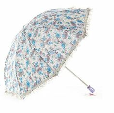 Hong Ye/ Redleaf Embroidery & Lace Elegant Anti-UV Sun Umbrella Twice Folding UV Protected Parasol (Blue) HONG YE,http://www.amazon.com/dp/B00ECBD500/ref=cm_sw_r_pi_dp_nQJrtb1G3NV7C58B