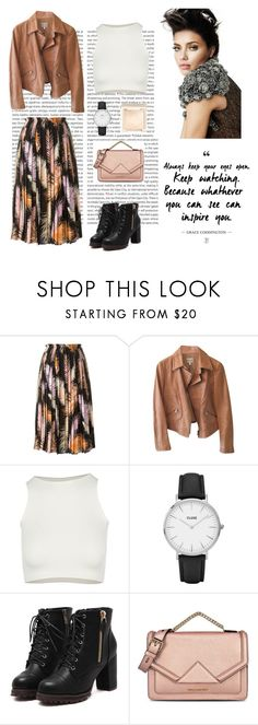 """25.09."" by dorey on Polyvore featuring Oris, Emilio Pucci, Armani Collezioni, Free People, CLUSE, Karl Lagerfeld, Jouer, skirt, Boots and autumn"