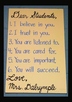"Clutter-Free Classroom: Posted ""Letter"" To The Class {INSPIRED}"