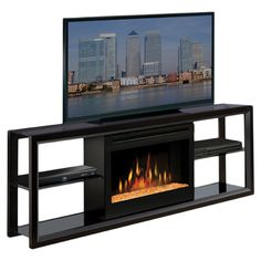 TV Lift Cabinet AT004602W Remington Electric Fireplace TV Stand ...