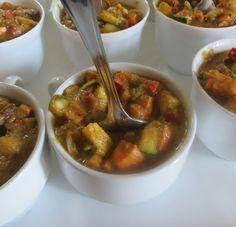 Zöldségek édes indiai szószban Chili, Soup, Chile, Soups, Chilis