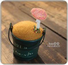 Mushroom in a bucket