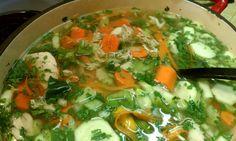 Chicken veggie celentro soup