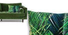Jangala Velvet Cushion 40 x 60cm, Teal
