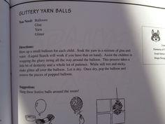 Glittery yarn balls