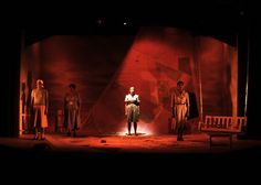 Stamping, Shouting and Singing Home. Polka Theatre. Scenic design by Sue Mayes. Lighting by Douglas Kuhrt.