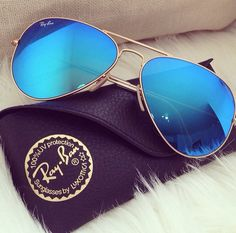 too cool true blue reflected aviator shades.